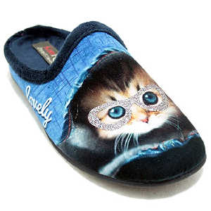 Zapatillas Azules Gato