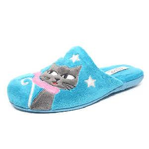 Zapatos de Gato Bufanda Azul