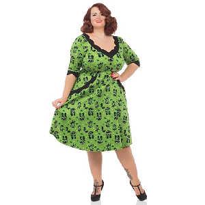 Vestido de Gatos Verde